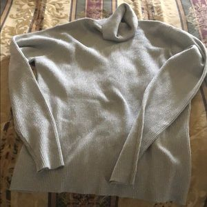 Silver sparkle sweater turtleneck XL new, no tag